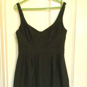 Nanette Lepore dress size 8 black pinstripe